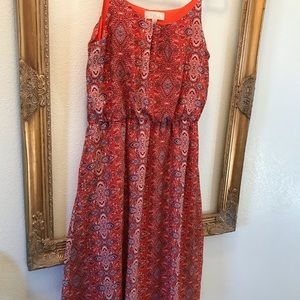 Olive & Oak Coral print summer dress